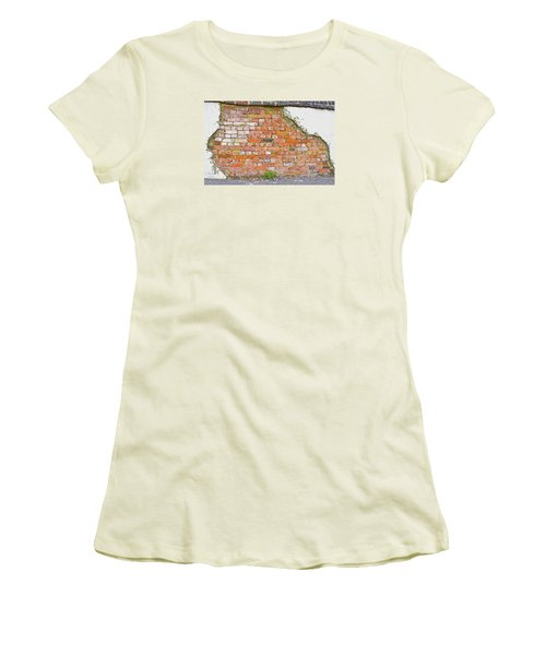Women's T-Shirt (Athletic Fit) featuring the photograph Brick And Mortar by Wanda Krack
