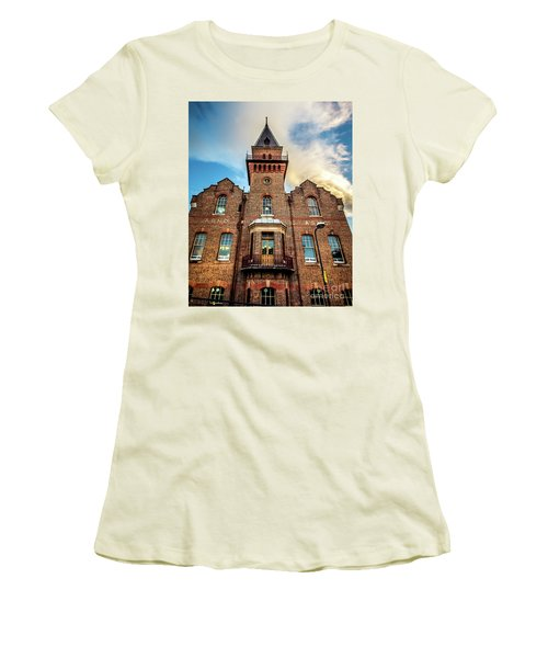 Women's T-Shirt (Junior Cut) featuring the photograph Brick Tower by Perry Webster