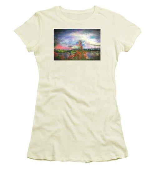 Bridge Blues Women's T-Shirt (Athletic Fit)
