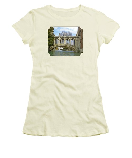 Bridge Of Sighs Cambridge Women's T-Shirt (Junior Cut) by Gill Billington