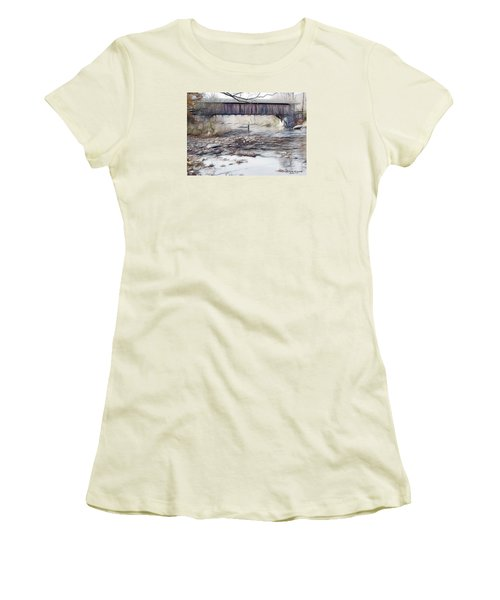 Bridge Over Troubled Waters Women's T-Shirt (Junior Cut) by EricaMaxine  Price