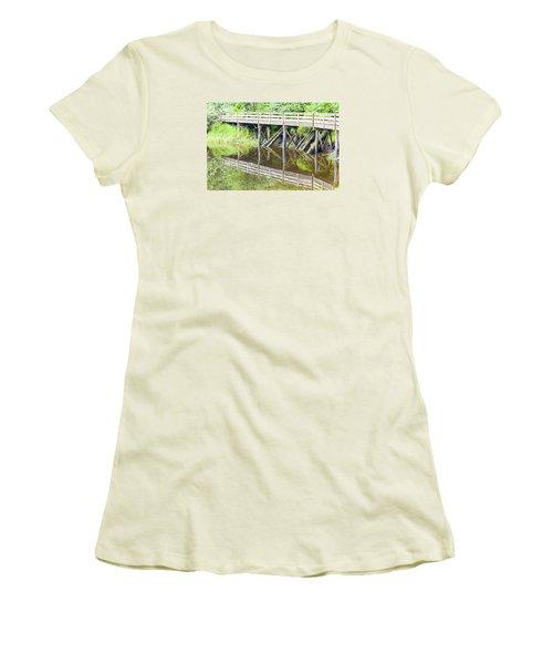 Bridge To Nowhere Women's T-Shirt (Junior Cut) by Harold Piskiel