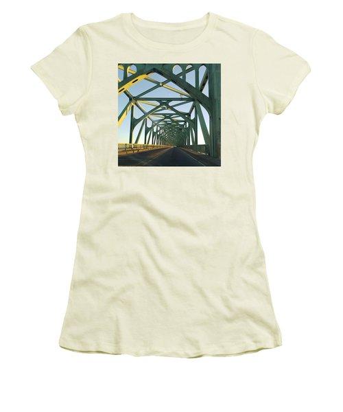 Bridge To Oregom Women's T-Shirt (Athletic Fit)