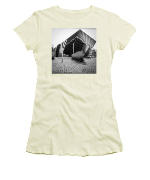 Women's T-Shirt (Junior Cut) featuring the photograph Broad Art Museum by Larry Carr