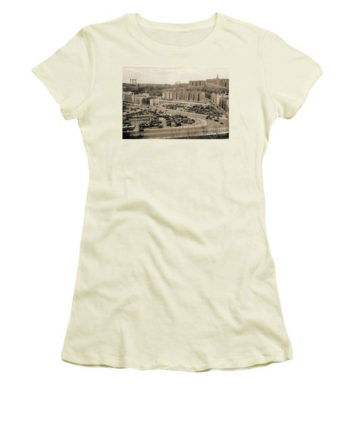 Broadway And Nagle Ave 1936 Women's T-Shirt (Junior Cut) by Cole Thompson