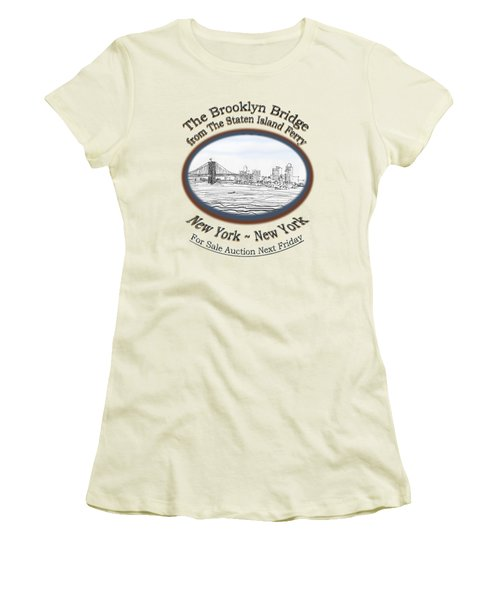 Brooklyn Bridge Women's T-Shirt (Junior Cut) by James Lewis Hamilton