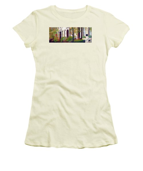 Brooklyn Brownstone Corridor 2 Women's T-Shirt (Athletic Fit)