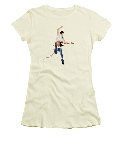Bruce Springsteen Typography Art Women's T-Shirt (Athletic Fit)