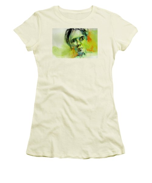 Women's T-Shirt (Junior Cut) featuring the painting Bryant by Jim Vance