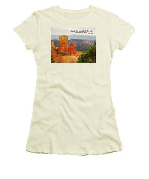 Women's T-Shirt (Junior Cut) featuring the photograph Bryce Canyon by Jim Mathis