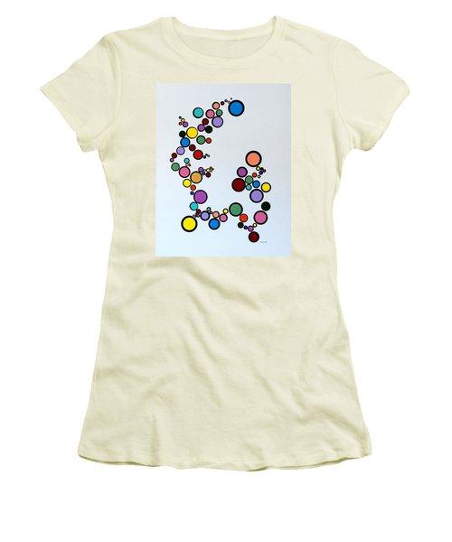 Bubbles2 Women's T-Shirt (Athletic Fit)