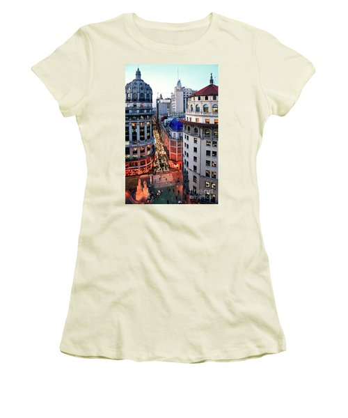 Buenos Aires Street I Women's T-Shirt (Junior Cut) by Bernardo Galmarini