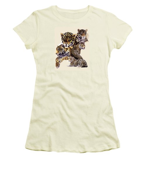 Women's T-Shirt (Junior Cut) featuring the drawing Burn by Barbara Keith
