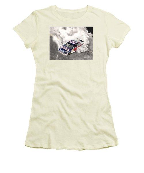 Burnt Rubber Women's T-Shirt (Athletic Fit)