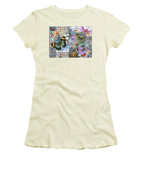 Butterfly Wings Collage Women's T-Shirt (Athletic Fit)