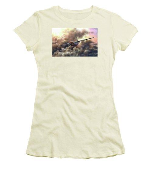 C-130 Hercules Women's T-Shirt (Junior Cut) by Dave Luebbert