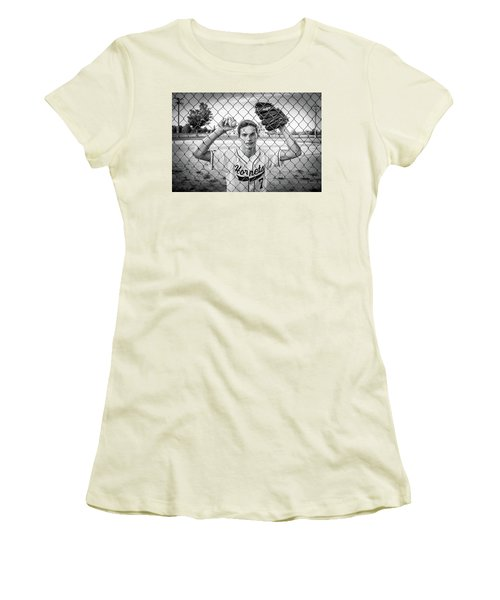 Women's T-Shirt (Junior Cut) featuring the photograph Caged Competitor by Bill Pevlor