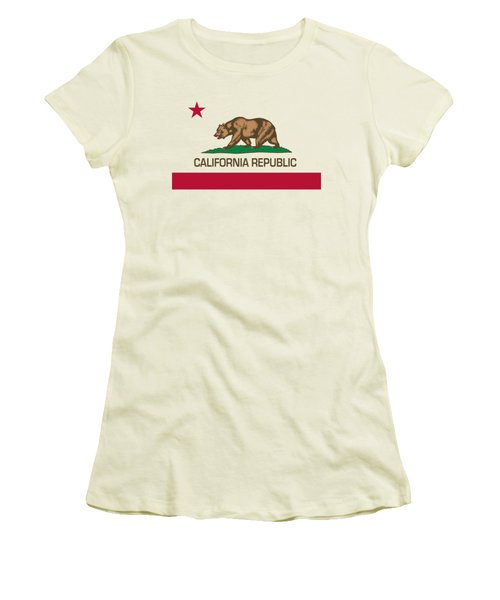 California Republic State Flag Authentic Version Women's T-Shirt (Junior Cut) by Bruce Stanfield