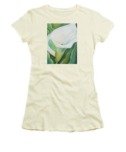 Calla Lily Women's T-Shirt (Junior Cut) by Ruth Kamenev