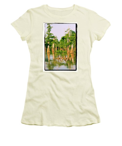 Calm Bayou Women's T-Shirt (Athletic Fit)