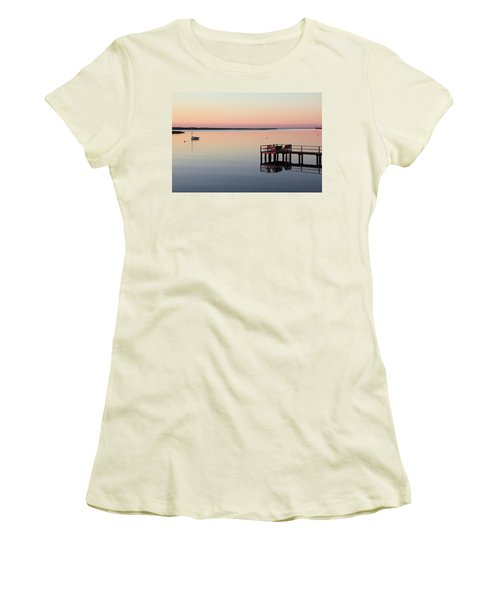 Calm Waters Women's T-Shirt (Junior Cut) by Roupen  Baker