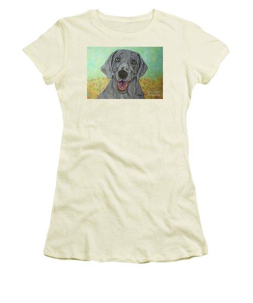 Camden The Weimaraner Women's T-Shirt (Athletic Fit)