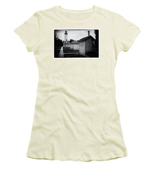 Women's T-Shirt (Junior Cut) featuring the photograph Cana Island Retro by Janice Adomeit