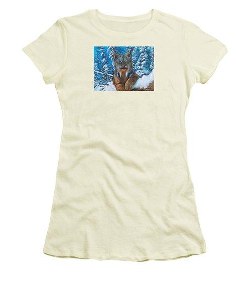 Canadian Lynx Women's T-Shirt (Junior Cut)