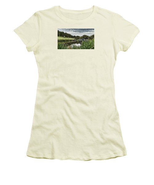 Canal Boats Women's T-Shirt (Junior Cut) by RKAB Works