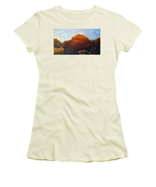 Canyon Overlook II Women's T-Shirt (Junior Cut) by Loretta Luglio