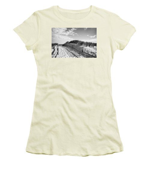 Cape Cod Beach Entry Women's T-Shirt (Athletic Fit)