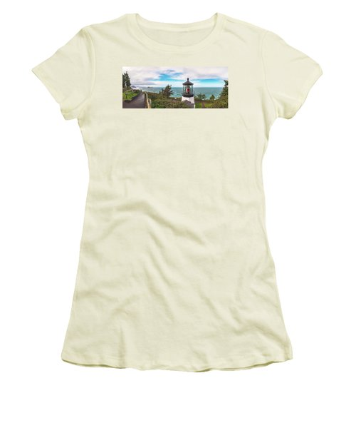Women's T-Shirt (Athletic Fit) featuring the photograph Cape Meares Bright by Darren White