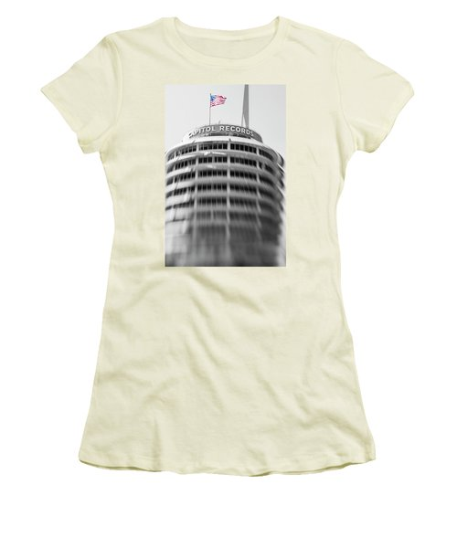Women's T-Shirt (Junior Cut) featuring the photograph Capitol Records Building 18 by Micah May