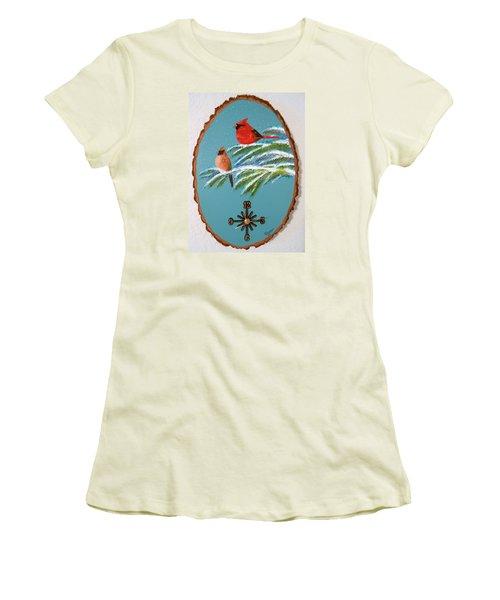 Cardinal Clock Women's T-Shirt (Athletic Fit)
