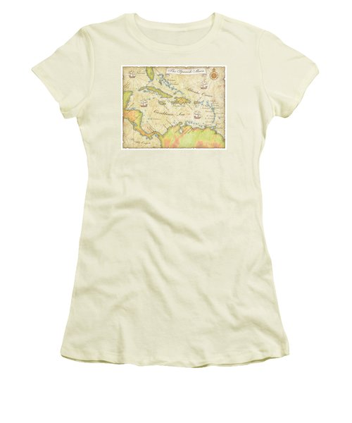 Caribbean Map - Good Women's T-Shirt (Athletic Fit)