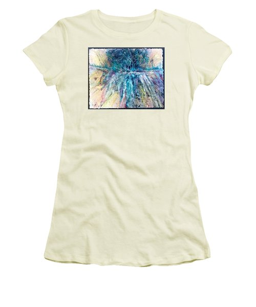 Cascade Ridge Women's T-Shirt (Junior Cut) by Carolyn Rosenberger