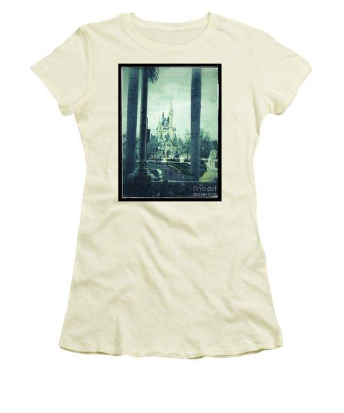 Castle Between The Palms Women's T-Shirt (Junior Cut) by Jason Nicholas