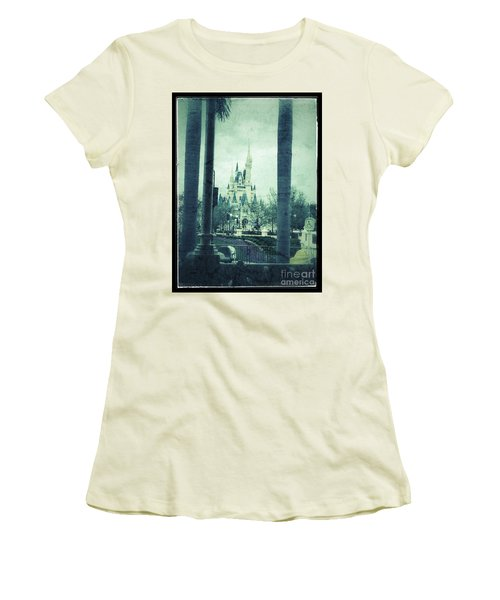 Castle Between The Palms Women's T-Shirt (Athletic Fit)