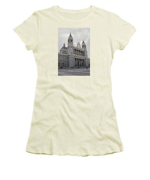 Catedral De La Almudena Women's T-Shirt (Junior Cut) by Angel Jesus De la Fuente