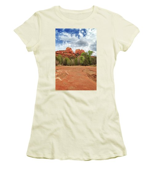 Women's T-Shirt (Athletic Fit) featuring the photograph Cathedral Rock Sedona by James Eddy