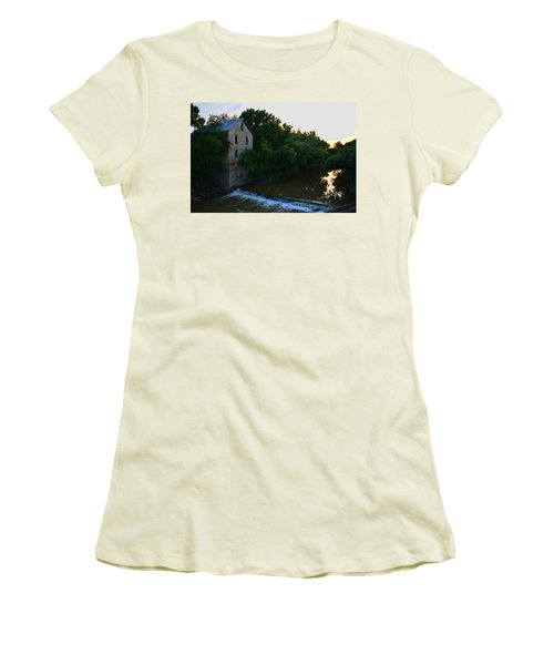 Cedar Point Mill Women's T-Shirt (Junior Cut) by Keith Stokes