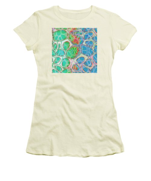 Cell Abstract 10 Women's T-Shirt (Junior Cut) by Edward Fielding