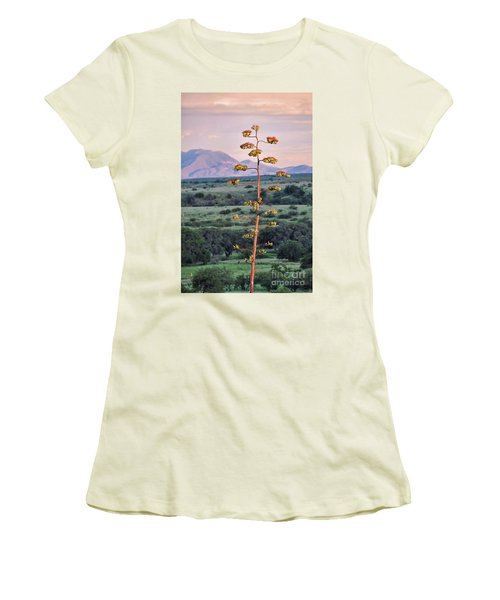 Women's T-Shirt (Junior Cut) featuring the photograph Centuryplant by Gina Savage