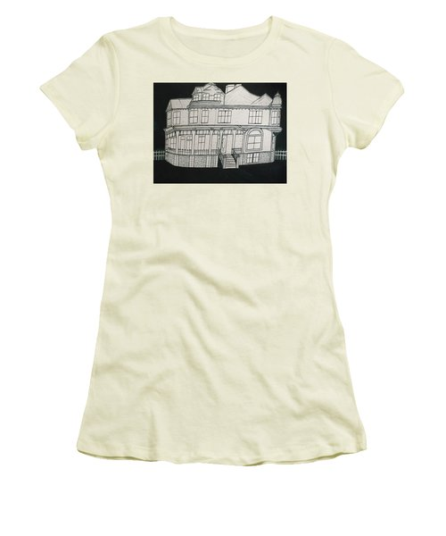Charles A. Spies Historical Menominee Home. Women's T-Shirt (Junior Cut) by Jonathon Hansen