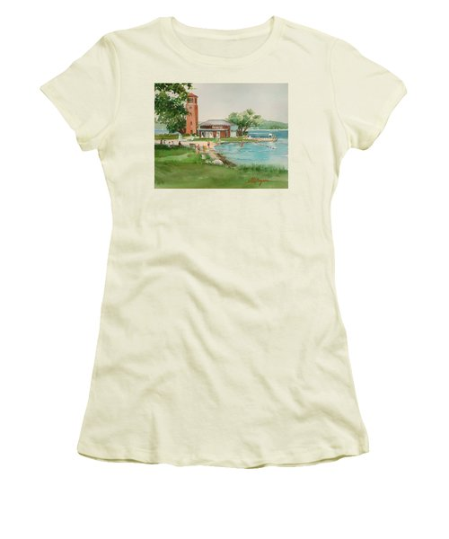 Chautauqua Bell Tower And Beach Women's T-Shirt (Athletic Fit)