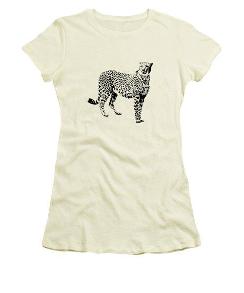 Cheetah Cutout Women's T-Shirt (Athletic Fit)