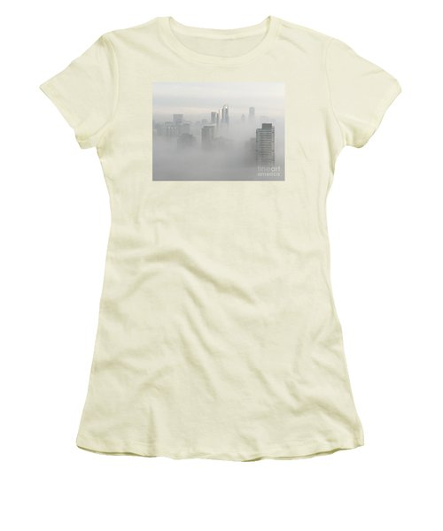 Chicago In The Clouds Women's T-Shirt (Junior Cut) by Kate Purdy