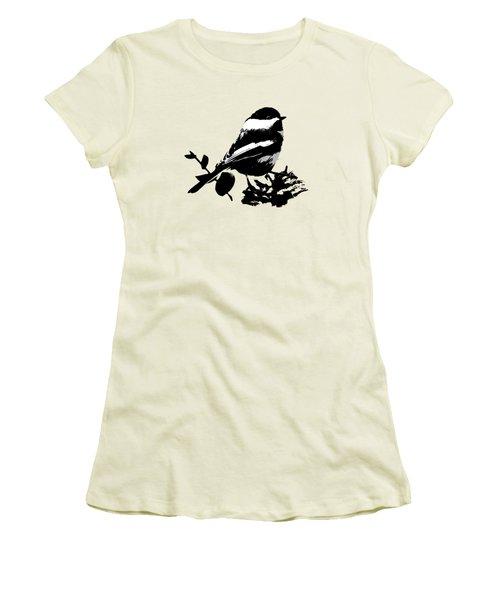 Chickadee Bird Pattern Women's T-Shirt (Athletic Fit)