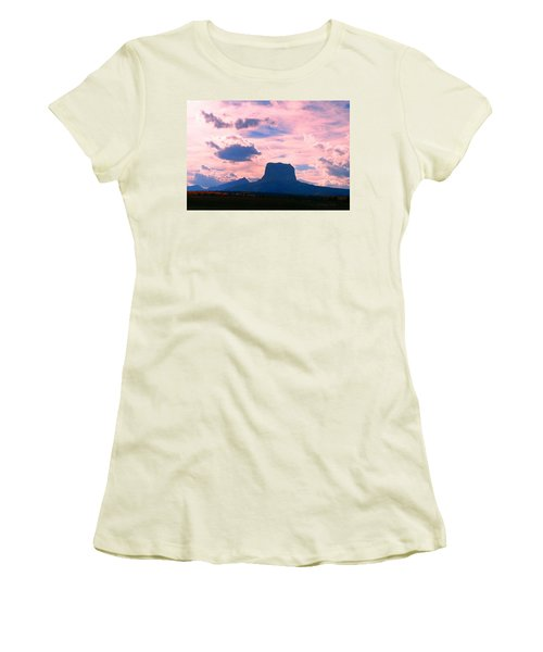 Chief Mountain, Pastel Women's T-Shirt (Athletic Fit)