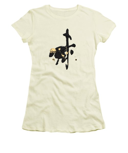 Chinese Zodiac - Year Of The Goat On Rice Paper Women's T-Shirt (Athletic Fit)